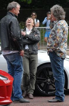 The boys of BBC #TopGear laughing it up