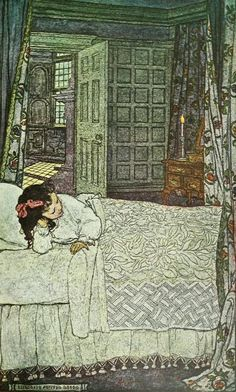 'Candle-light.' Illustration by Elizabeth Shippen Green from 'The Book of the Little Past' by Josephine Preston Peabody. Published by Houghton Mifflin Company...