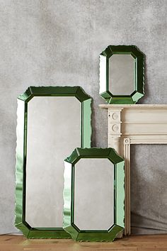 Sculpted Beaumont Mirror #anthropologie ... Bought the medium size. It's much bigger than anticipated. Gorgeous & very heavy.