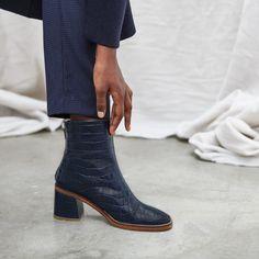Ankle Saldaña Rosa Checked Marrone BootsColor Nicole Farfetch Pelle bgI76Yfyv