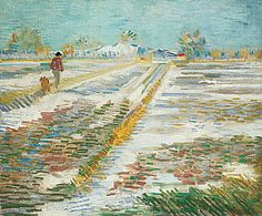 Landscape with Snow, Vincent Van Gogh
