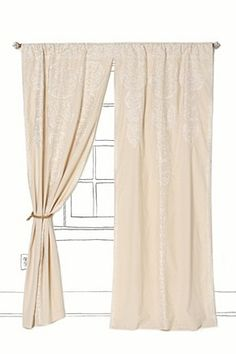 Baby room curtains.