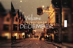 Welcome december december december quotes hello december Christmas Lights, Christmas Time, Merry Christmas, Christmas Clock, Christmas Feeling, Christmas Scenes, Christmas Fashion, Christmas Greetings, Birthday Greetings