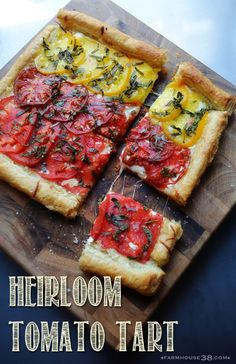 Heirloom Tomato Tart from Farmhouse38