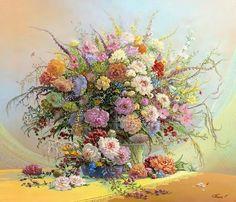 Maher Art Gallery: SERGEY PANIN ANATOLEVICH.NATYURMORTY WITH FLOWERS
