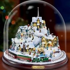 Thomas Kinkade's style is made for the holidays. Soft, warm light and cozy scenes make wonderful ornaments, villages, figures, music boxes and...
