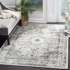 Safavieh Evoke Vintage Oriental Grey / Ivory Distressed Rug (9' x 12') | Overstock.com Shopping - The Best Deals on 7x9 - 10x14 Rugs