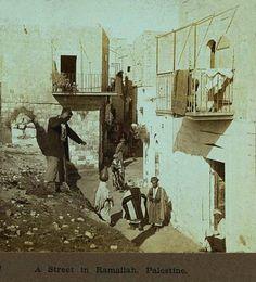 Ramallah-رام الله: A street in Ramallah, Palestine -  1905