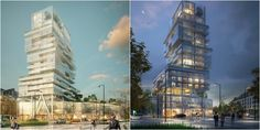 Luminous Transparent Mixed Use Tower Will Mark the Skyline of Saint-Malo France