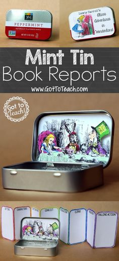 """Mint Tin Book Report: A fun, """"little"""" twist on the traditional book report."""