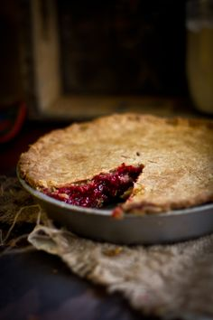 Raspberry pie. This pie recipe is FULL of raspberries. It's the best way to use up this seasons bounty. Plus, a bunch more ways to use the berry.