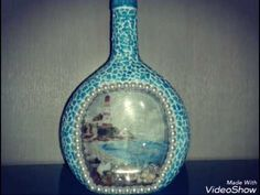 Декор бутылки. Bottle decoupage. - YouTube