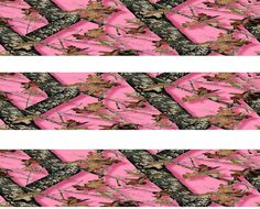 PINK CAMO  Edible Cake Strips 3 Strips per Sheet  by Designed4utoo, $6.50