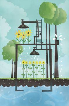 Water Farm, Katja Potokar on ArtStation at https://www.artstation.com/artwork/water-farm
