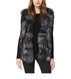 Fox Fur Vest by Michael Kors