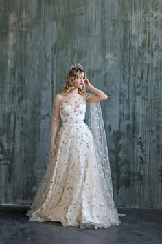 Two Piece Wedding Dress, Wedding Skirt, Wedding Dress Sleeves, Wedding Dresses, Bridal Skirts, Bridal Gowns, Star Wedding, Galaxy Wedding, Dream Wedding