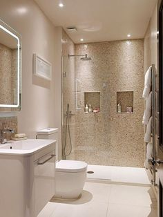 33 The Insider Secret On Bathroom Remodel Ideas You MUST See For Your Lovely Home Discovered 11 - homevignette Diy Bathroom, Beige Bathroom, Bathroom Layout, Master Bathroom, Remodel Bathroom, Shower Bathroom, Bathroom Remodeling, Bathroom Niche, Remodeling Ideas