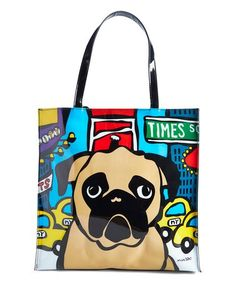 Another great find on #zulily! Brown & Black Pug Tote #zulilyfinds