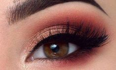 The best collection of Amazing Smokey Eye Makeup Shape Ideas #EyeMakeupCutCrease Coral Eye Makeup, Bronze Eye Makeup, Eye Makeup Cut Crease, Eye Makeup Tips, Smokey Eye Makeup, Makeup Ideas, Burgundy Makeup, Makeup Tricks, Makeup Inspiration