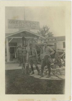 """""""The Grease-Spot Service Store""""  c. 1920"""