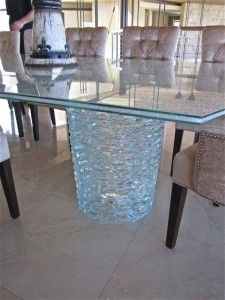 Cracked Glass Dining Room Table Shattered Glass Table Top