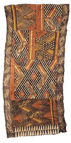 Kuba cloth with tie-dye edges