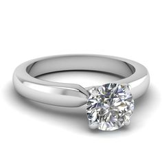 white-gold-round-white-diamond-solitaire-engagement-wedding-ring-in-prong-set