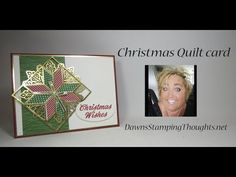 Christmas Quilt card Today we will be making a beautiful Christmas card using the Christmas Quilt stamp set and Quilt Builder Framelits Here are the measurem. Christmas Cards 2017, Beautiful Christmas Cards, Homemade Christmas Cards, Xmas Cards, Homemade Cards, Diy Christmas, Card Tutorials, Video Tutorials, Patchwork Cards