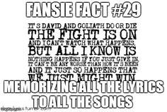 Fansie Facts...I'm actually in the process of doing this(: