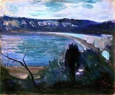 Edvard Munch - Moonlight by the Mediterranean