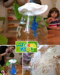 Déšť ve sklenici - den stvoření (Rain in a jar - Day 2 of Creation) Science For Kids, Science Activities, Children Activities, Diy For Kids, Crafts For Kids, Paper Umbrellas, Art Education, Coloring Pages, Projects To Try