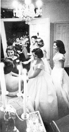 Sorority rush party - 1960 - Wearing a ball gown during rush?  Very old South. I wish I had a picture of my pledge class (1990) during rush in our lovely lace dresses and peach sashes! :)
