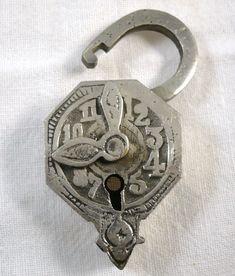 A really unusual clock design padlock