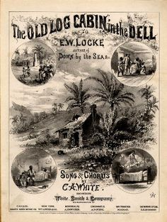 WONDERFUL A4 GLOSSY PRINT - 'THE OLD LOG CABIN IN THE DELL' - CIRCA 1875 (A4 PRINTS - VINTAGE SHEET MUSIC / SONG BOOK COVERS) by Unknown http://www.amazon.co.uk/dp/B004IYXT9I/ref=cm_sw_r_pi_dp_TL3ovb0ED6WPF