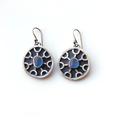 Anglo Saxon inspired sea glass earrings by Tania Covo