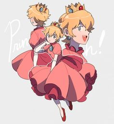 """""""i wanted to draw peach with short hair"""" Super Mario Bros, Super Mario Brothers, Super Mario Games, Super Smash Bros, Mario And Luigi, Mario Kart, Metroid, Game Character, Character Design"""