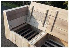 Bildergebnis für zelf steigerhouten hoekbank maken met opbergruimte