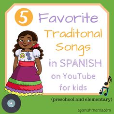 Our favorite canciones tradicionales for children! Learn Spanish and Hispanic culture with these traditional songs in Spanish.Our favorite canciones tradicionales for children! Learn Spanish and Hispanic culture with these traditional songs in Spanish. Preschool Spanish, Spanish Lessons For Kids, Learning Spanish For Kids, Spanish Teaching Resources, Elementary Spanish, Preschool Songs, Spanish Activities, Spanish Language Learning, Learning Italian