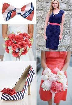 coral and navy wedding    @Kelsey Myers Myers Myers Kilcollins  Coral Dresses #2dayslook #lily25789 #CoralDresses  www.2dayslook.com