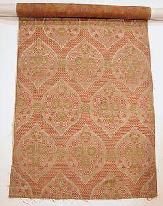Textile Fragment Object Name: Fragment Date: 16th century Geography: Turkey, Bursa Culture: Islamic Medium: Silk, metal wrapped thread; lampas (kemha) Accession Number: 44.41.1