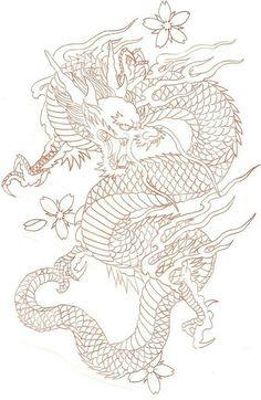 diseños de tatuajes 2019 Ladys and Genltemen, I give you a Chinese Dragon. - diseños de tatuajes 2019 Ladys and Genltemen, I give you a Chinese Dragon. I also have the coloure - Japanese Dragon Tattoos, Japanese Tattoo Art, Chinese Dragon Drawing, Asian Dragon Tattoo, Dragon Tattoo Leg, Dragon Tattoo Drawing, Chinese Tattoos, Arabic Tattoos, Dragon Tattoo Stencil