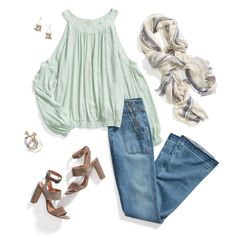 Care for a style refresh-mint? Pair pale hues with faded flares for an airy, laid-back look. #StylistTip
