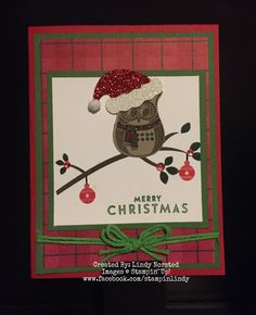 I made this card using Cozy Critters stamp set which can be found in the 2016 SU Holiday catalog.