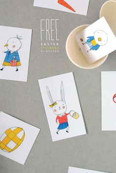 Mermag | DIY Printable Easter Stickers