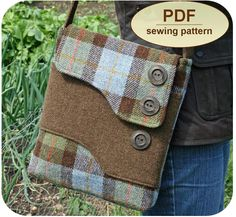 Sewing pattern to make the Melford Messenger Bag PDF pattern image 0 Sewing Hacks, Sewing Crafts, Sewing Projects, Sewing Tips, Bag Patterns To Sew, Pdf Sewing Patterns, Vintage Messenger Bag, Diy Messenger Bag, Messenger Bag Patterns