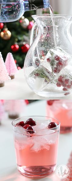 Wonderfully delicious and season with only 3 ingredi… Jingle Juice Holiday Punch. Wonderfully delicious and season with only 3 ingredients! Christmas Drinks, Holiday Cocktails, Christmas Treats, Party Drinks, Fun Drinks, Yummy Drinks, Beverages, Liquor Drinks, Bourbon Drinks