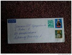 "RARE 1970""S COVER ENVELOPE BULGARIA-USSR PAR AVION 2/3/20 STOTINKI STAMPS - Airmail"