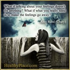 Bipolar quote by Amy Reed - What if talking about your feelings doesnt fix anything? What if what you really need is to make the feelings go away?