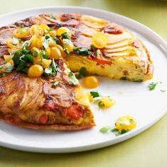 Potato Frittata-When preparing this frittata for breakfast, brunch, or lunch, slice potatoes and carrots about 1/8 inch thick for a tender and golden finish to this egg-base dish.