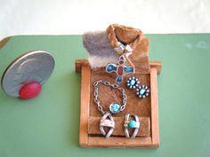 Dollhouse Miniature Sterling Jewelry Display by larkinbirdvintage